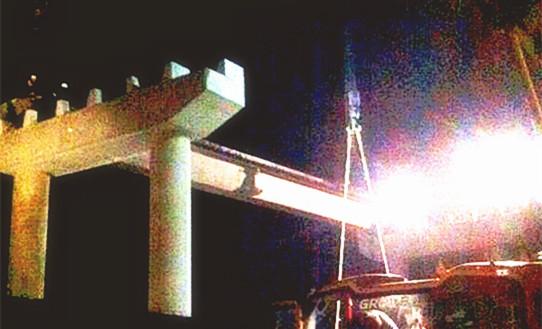 中铁二十局集团哈齐客专二分部宋站公铁立交桥按期安全完工