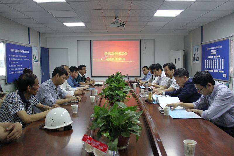 省民政厅规划财务处长王永泉到韩城市社会福利园项目考察指导