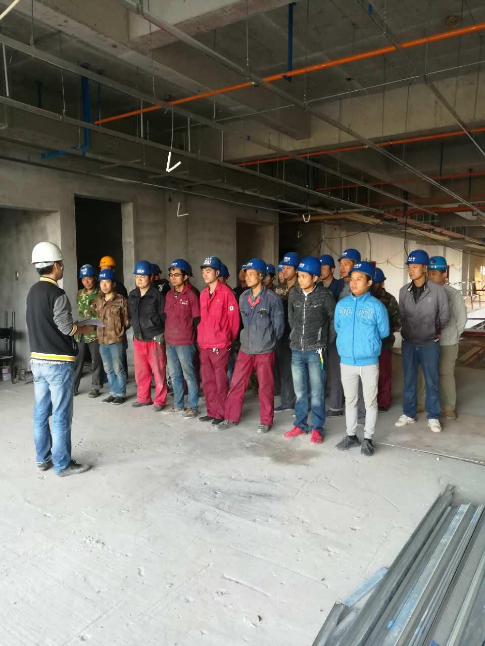 延安大学新校区项目抓生产 不忘安全